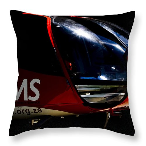 Eurocopter Ec 130 Throw Pillow featuring the photograph Waking Up by Paul Job