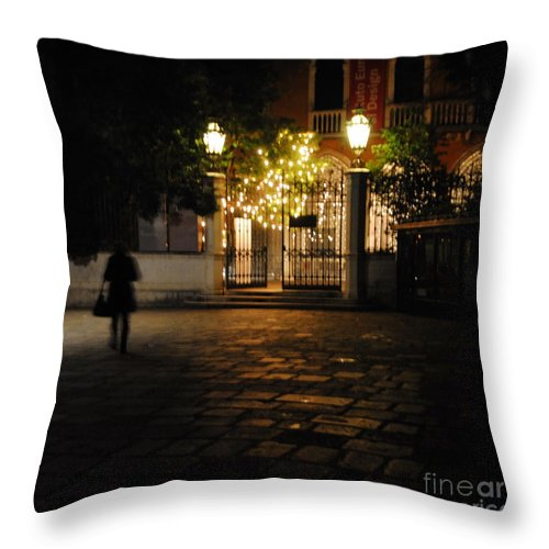 Accademia Throw Pillow featuring the photograph Walk In Accademia by Jacqueline M Lewis