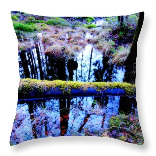 Snow Throw Pillow featuring the photograph Walk Right Into The Nature's Fairytale With Me by Hilde Widerberg