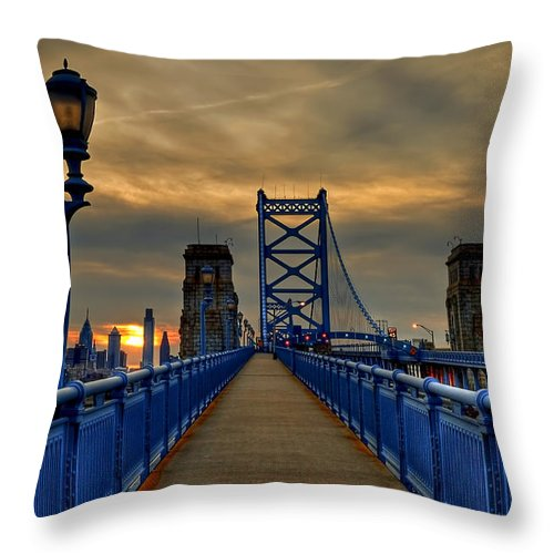 America Throw Pillow featuring the photograph Walk with Me by Evelina Kremsdorf