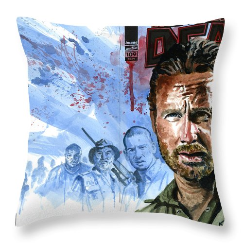 Walking Dead Throw Pillow featuring the painting Walking Dead by Ken Meyer jr