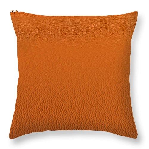 Libya Throw Pillow featuring the photograph Walking On A Sand Dune In The Sahara Desert by Robert Preston