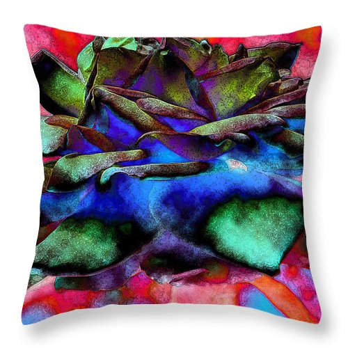Diane Dimarco Art Throw Pillow featuring the photograph Walking Softly 2 by Diane DiMarco