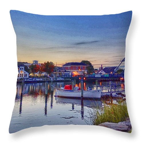 Mystic Throw Pillow featuring the photograph Walking To Town by Joe Geraci