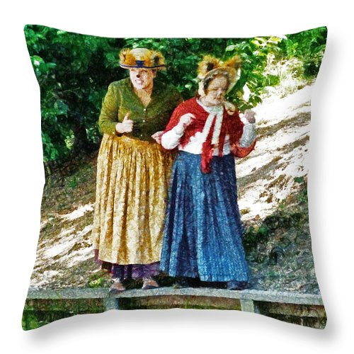 Wind In The Willows Throw Pillow featuring the photograph Walking With Squirrels by Steve Taylor