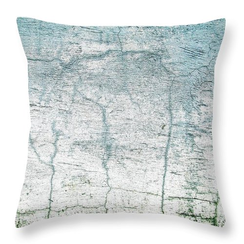 Wall Abstract Throw Pillow featuring the digital art Wall Abstract 10 by Maria Huntley