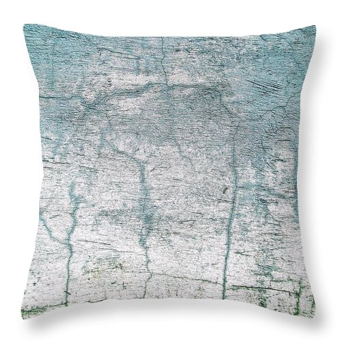 Wall Abstract Throw Pillow featuring the digital art Wall Abstract 11 by Maria Huntley