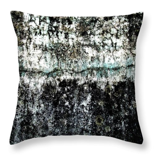 Wall Abstract Throw Pillow featuring the digital art Wall Abstract 12 by Maria Huntley