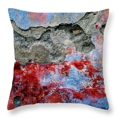 Wall Abstract Throw Pillow featuring the digital art Wall Abstract 16 by Maria Huntley