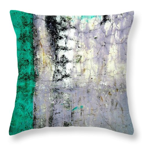 Wall Abstract Throw Pillow featuring the digital art Wall Abstract 20 by Maria Huntley