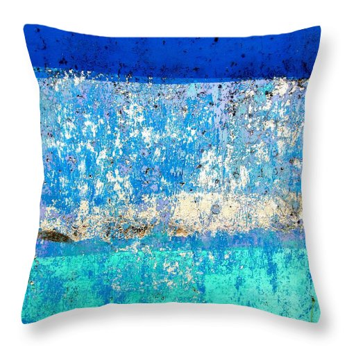 Wall Abstract Throw Pillow featuring the digital art Wall Abstract 23 by Maria Huntley