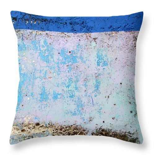 Wall Abstract Throw Pillow featuring the digital art Wall Abstract 25 by Maria Huntley