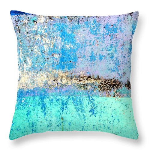 Wall Abstract Throw Pillow featuring the digital art Wall Abstract 26 by Maria Huntley