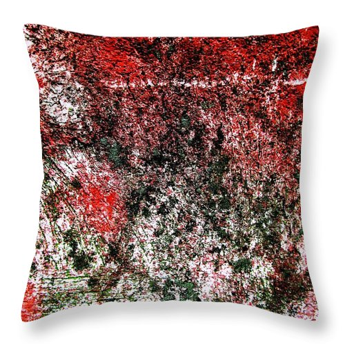 Wall Throw Pillow featuring the digital art Wall Abstract 38 by Maria Huntley