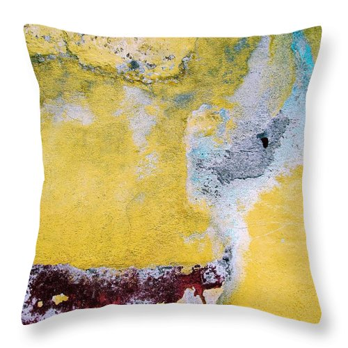 Wall Abstract Throw Pillow featuring the digital art Wall Abstract 43 by Maria Huntley