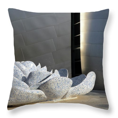 Disney Throw Pillow featuring the photograph Walt Disney Concert Hall 8 by Bob Christopher