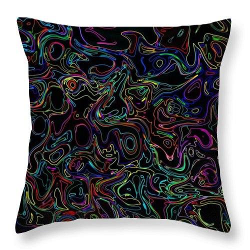 Neon Throw Pillow featuring the photograph Waltz In B Sharp 17 by Mark Blauhoefer