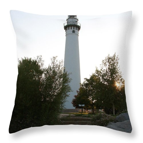Wind Point Throw Pillow featuring the photograph Wander To Wind Point by IMH Photog
