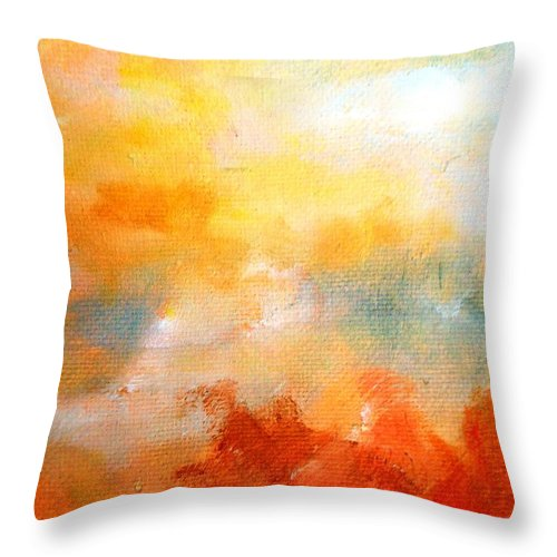 Paintings By Lyle Throw Pillow featuring the painting Wandering 2 by Lord Frederick Lyle Morris - Disabled Veteran
