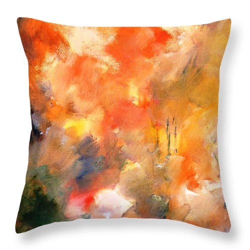Paintings By Lyle Throw Pillow featuring the painting Wandering by Lord Frederick Lyle Morris - Disabled Veteran
