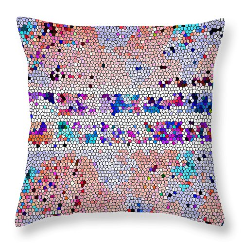 Abstract Art Throw Pillow featuring the photograph War Memorial Abstract by Tina M Wenger