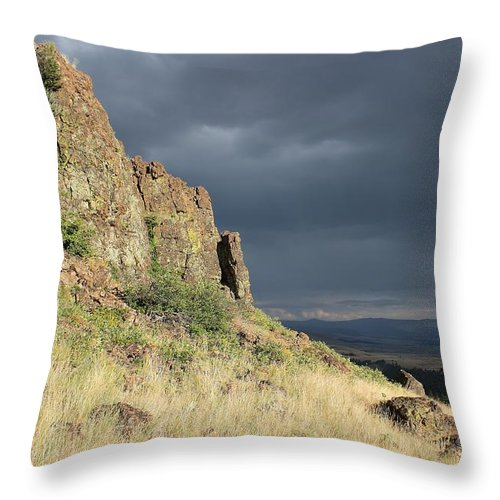Landscape Throw Pillow featuring the photograph Warm And Cool by Mark Eisenbeil