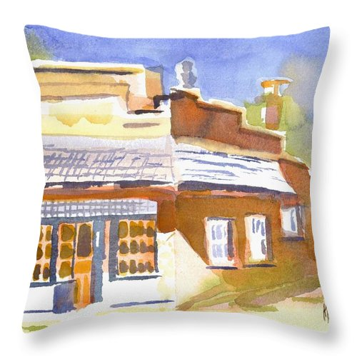 Warm Cast Shadows Throw Pillow featuring the painting Warm Cast Shadows by Kip DeVore