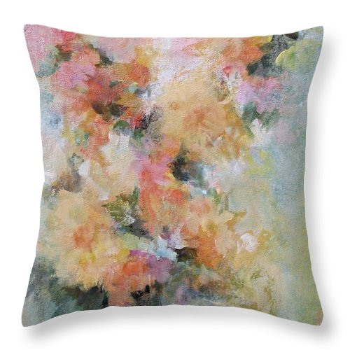 Abstract Throw Pillow featuring the painting Warm Embrace by Karen Hale