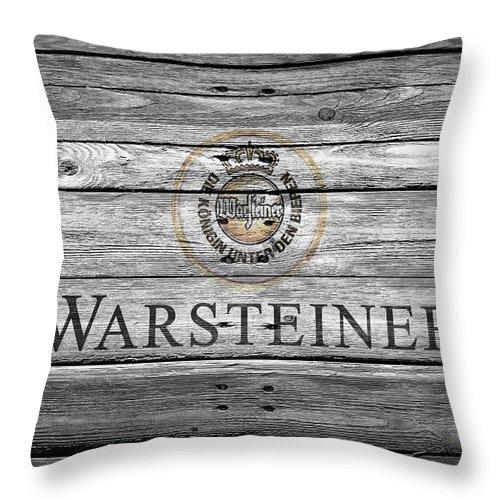 Warsteiner Throw Pillow featuring the photograph Warsteiner by Joe Hamilton