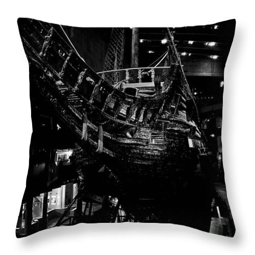 Djurg�rden Throw Pillow featuring the photograph Wasa-museum. Stockholm 2014 by Jouko Lehto