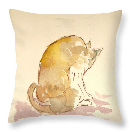 Washing Throw Pillows At Home : Washing Cat I Throw Pillow for Sale by Michelle Reeve - 18