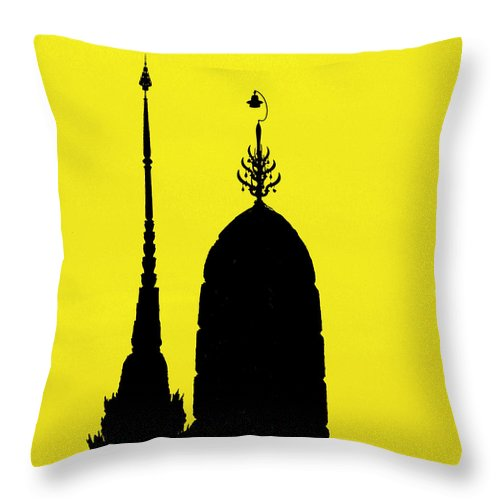 Thailand Throw Pillow featuring the photograph Wat Arun - Temple Of The Dawn by A Rey