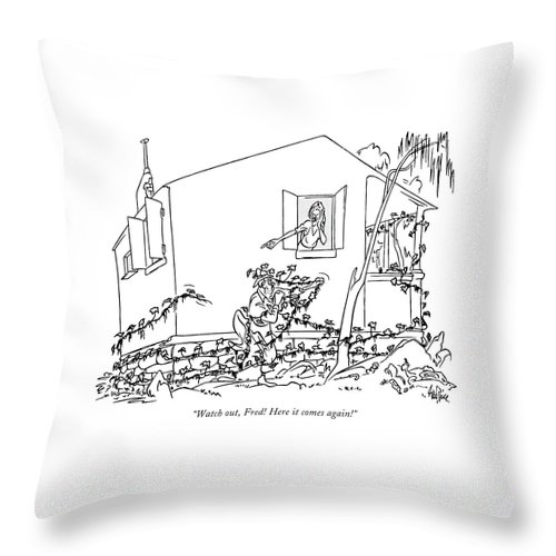 Here It Comes Again Throw Pillow