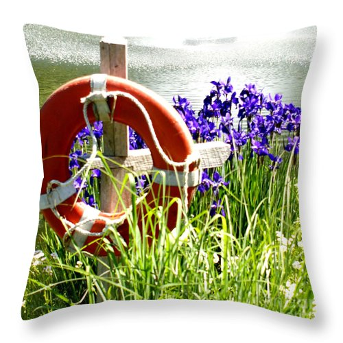 Purple Throw Pillow featuring the photograph Watchful Eye I by Valerie Fuqua