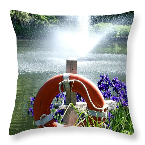 Purple Throw Pillow featuring the photograph Watchful Eye II by Valerie Fuqua