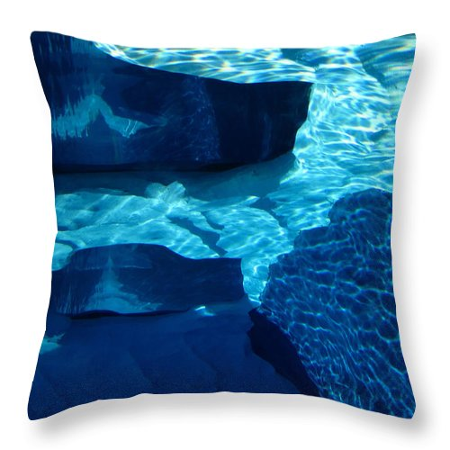 Blue Water Throw Pillow featuring the photograph Water Abstract 2 by Mary Bedy