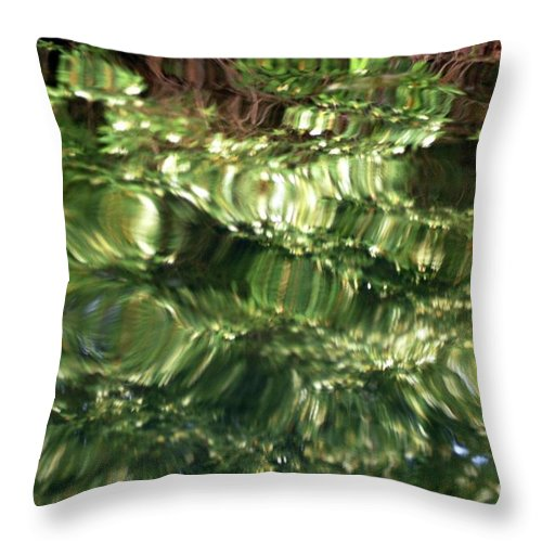Water Throw Pillow featuring the photograph Water Abstract by Kathleen Struckle