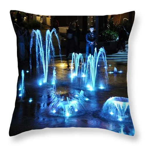 #water #beatiful #ligths #sydney #australia Throw Pillow featuring the photograph Water And Ligths by Stefan Pettersson