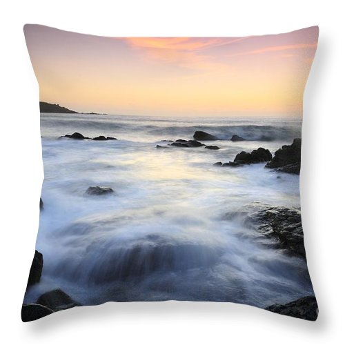 Water And The Sunset Throw Pillow featuring the photograph Water And The Sunset by Jenny Potter