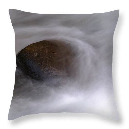 Rocks Throw Pillow featuring the photograph Water Around A Rock by Jeff Swan