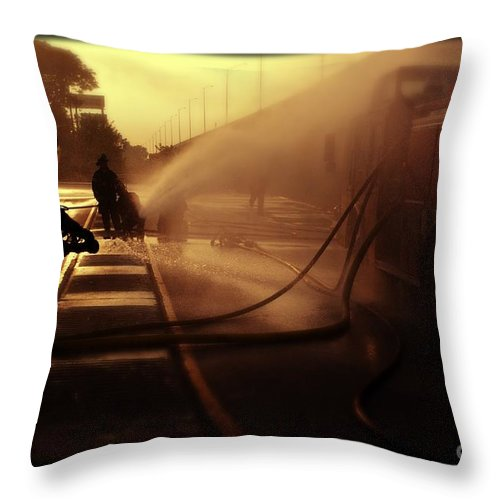 Water Throw Pillow featuring the photograph Water Blanket by Frank J Casella