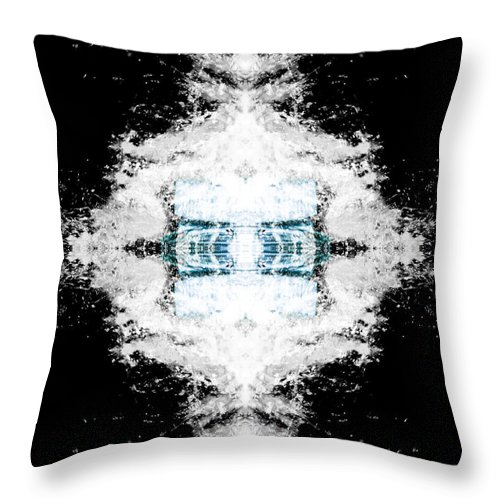 Abstract Photographs Throw Pillow featuring the photograph Water Explosion by Ester Rogers