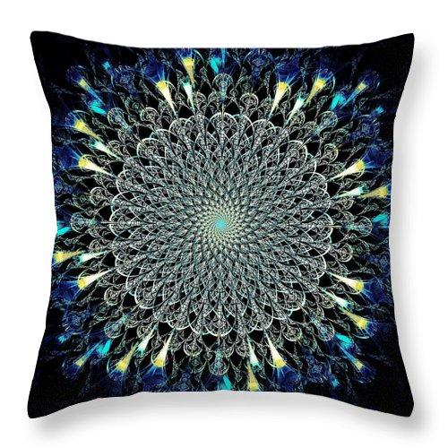 Computer Throw Pillow featuring the digital art Water Glyph by Anastasiya Malakhova