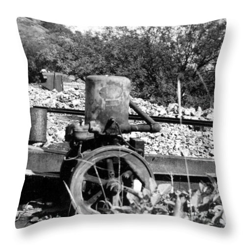 Arizoan Throw Pillow featuring the photograph Water Pump by Larry Ward