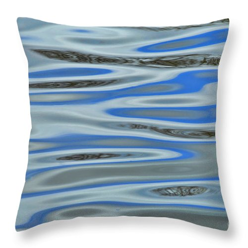 Water Throw Pillow featuring the photograph Water Reflections 2 by Allen Beatty
