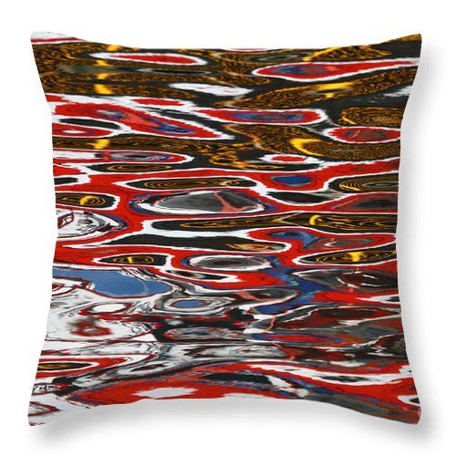 Reflection Throw Pillow featuring the photograph Water Ripple Patterns 3 by James Brunker