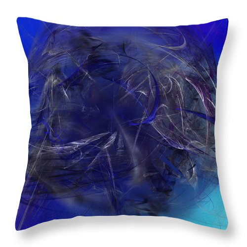 Stochastic Throw Pillow featuring the digital art Water Seiger by Jeff Iverson