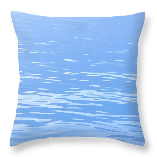 Standing Water Throw Pillow featuring the photograph Water Surface Background by Mmac72