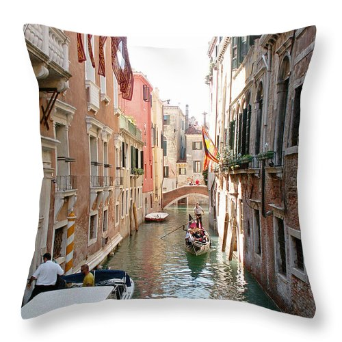 Italy Throw Pillow featuring the photograph Water Taxi by Evgeny Pisarev