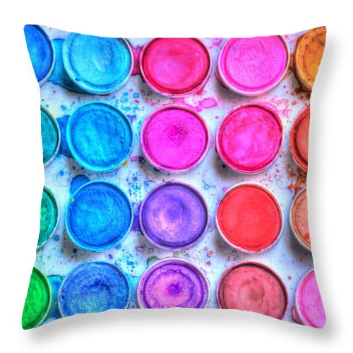 Paint Throw Pillow featuring the photograph Watercolor by Heidi Smith